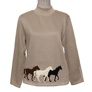 Vintage Blair Horse Mockneck Sweater